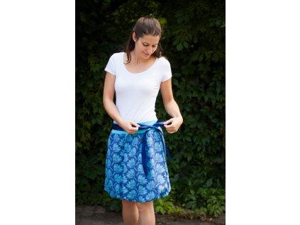 Dámská balónová sukně Rhododendrons Blue