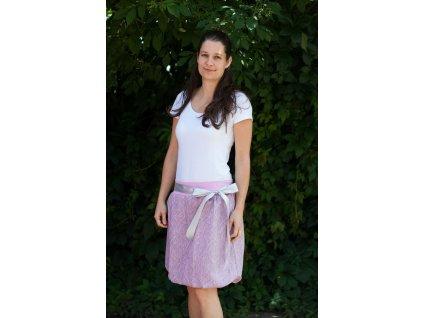 Dámská balónová sukně Bird Garden Grey-Pink