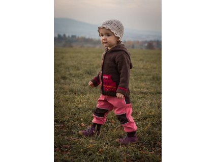 Softshellové kalhoty pro děti lososové