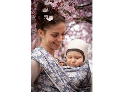 Rhododendrons Marble - šátek na nošení dětí