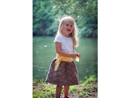 Dívčí balónová sukně - Rhododendrons Twilight