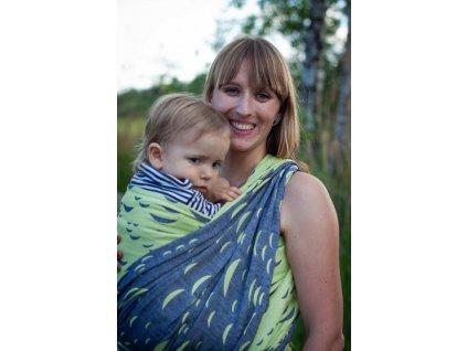 Vltava Meander - II. jakost - šátek na nošení dětí