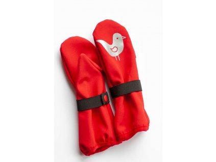 Dětské softshellové rukavice - červené