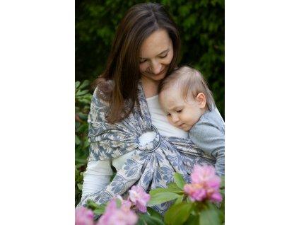 Ring sling Rhododendrons Marble - šátek na nošení dětí