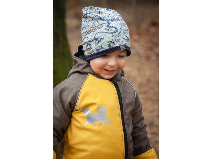 Dětská rostoucí softshellová kombinéza - žlutá