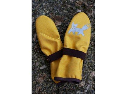 Dětské softshellové rukavice - žluté