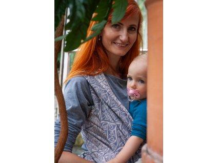 Bird Garden Bretagne - šátek na nošení dětí