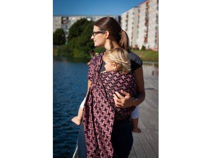 Ring Sling Twist Nancy - šátek na nošení dětí