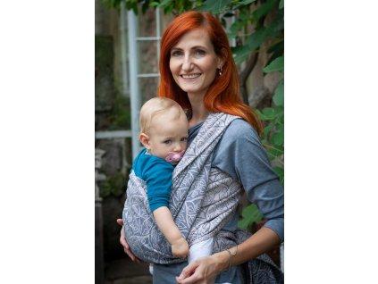 Ring Sling Bird Garden Bretagne - šátek na nošení dětí