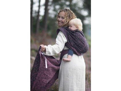Bird Garden Lava - šátek na nošení dětí