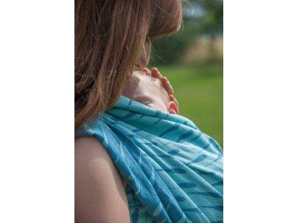 Raindrops Storm - II. jakost - šátek na nošení dětí