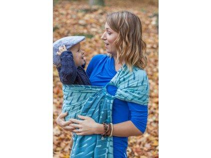 Ring Sling Raindrops Storm - II. jakost - šátek na nošení dětí