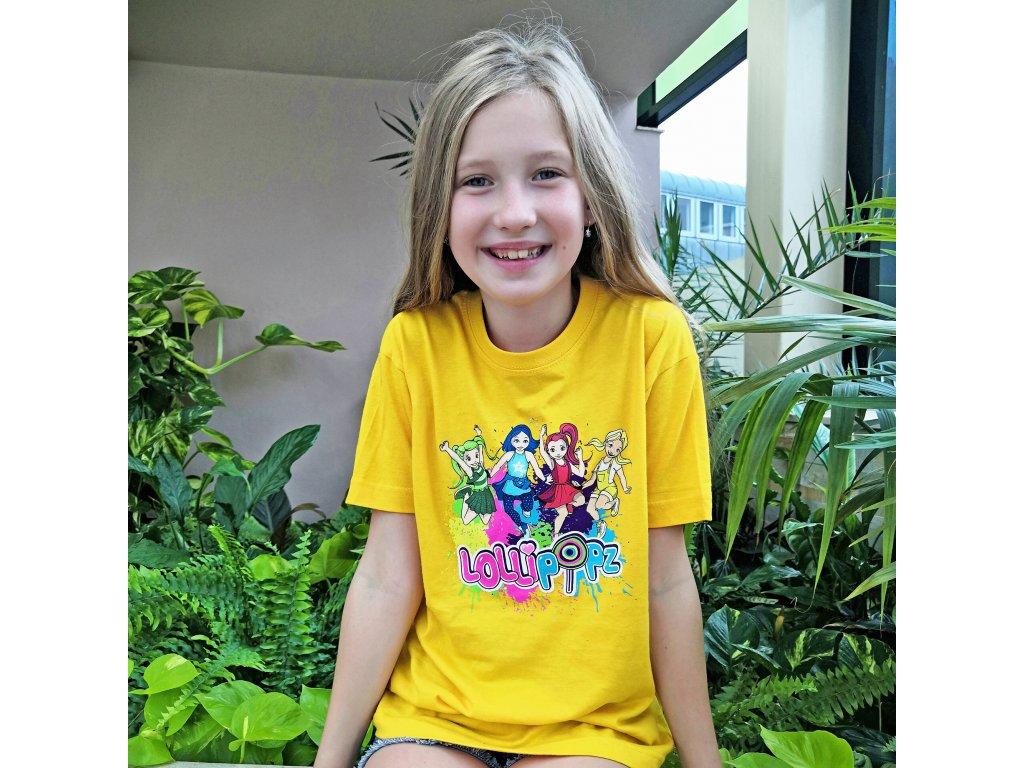 Lollipopz tričko žluté s potiskem