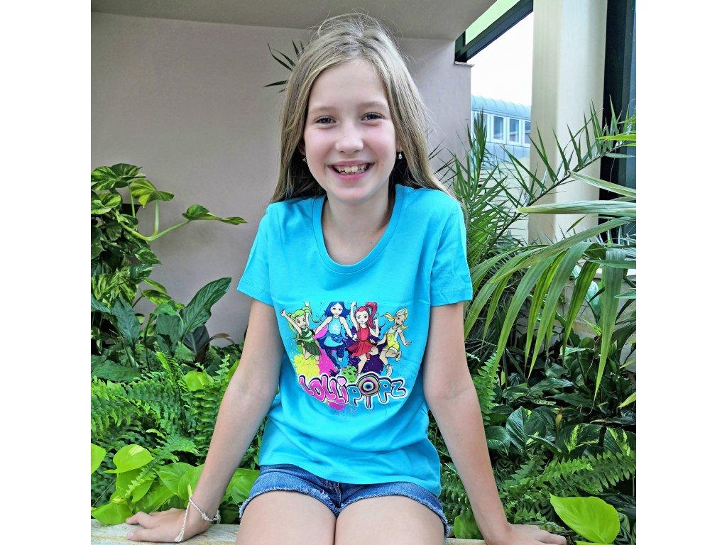 Lollipopz tričko modré s potiskem