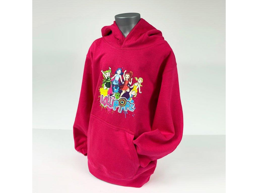Mikina s kapucí - růžová