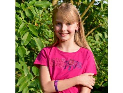 Lollipopz tričko růžové kamínkové