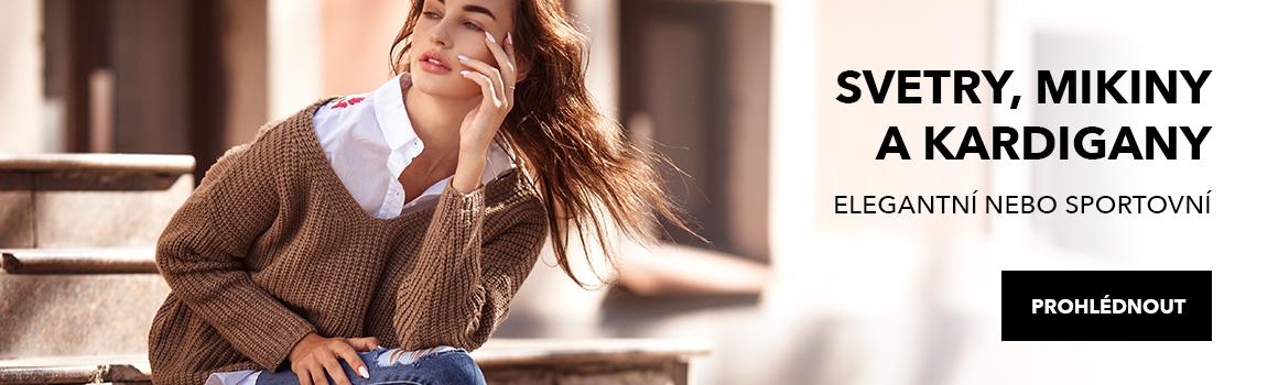 Jarní kolekce - svetry, mikiny a kardigany pro ženy
