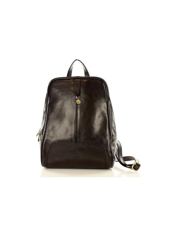 MAZZINI Černý kožený batoh (pl30a)