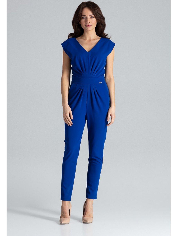 Modrý elegantní overal K496 Sapphire