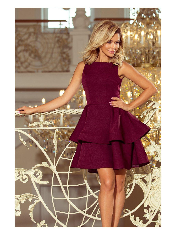 Elegantní bordó šaty CRISTINA 169-7