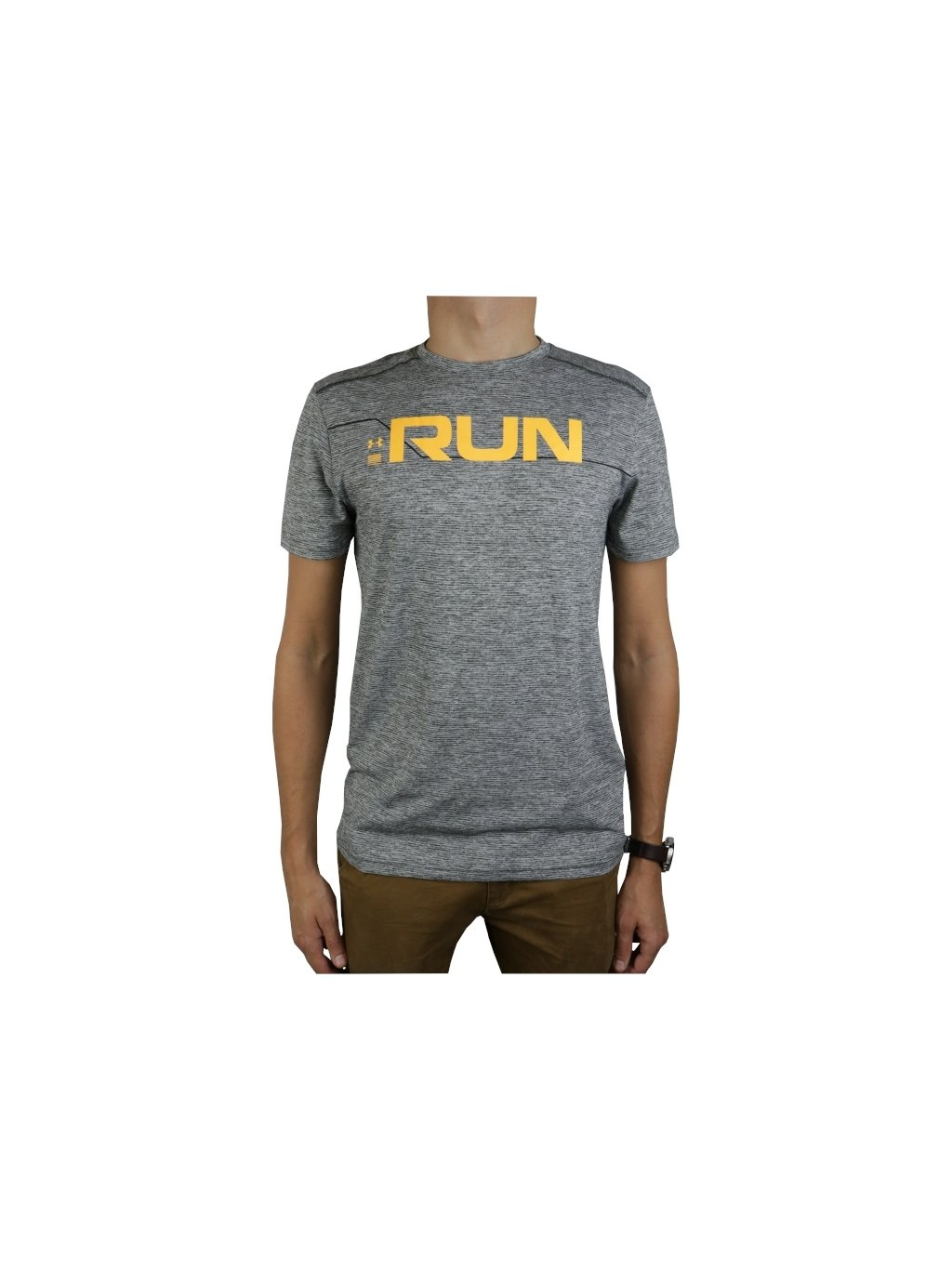 UNDER ARMOUR RUN FRONT GRAPHIC SS TEE