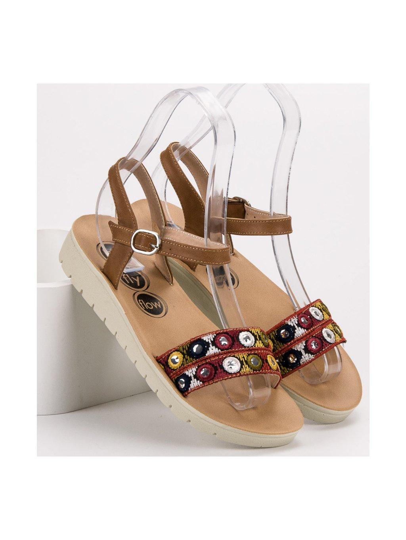 4c1a8e20c1 Dámské hnědé sandály - London Club