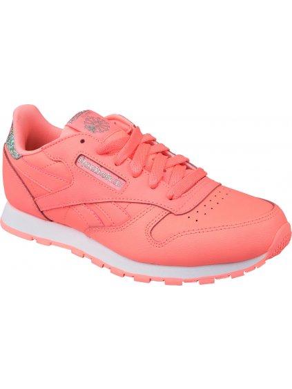 Dámská růžová sportovní obuv REEBOK Classic Leather - BS8981