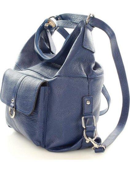Dámská modrá taška - batoh s116f