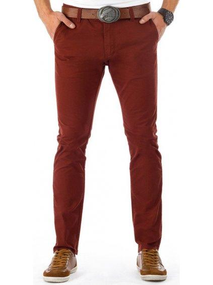 Pánské bordové kalhoty (ux0382)