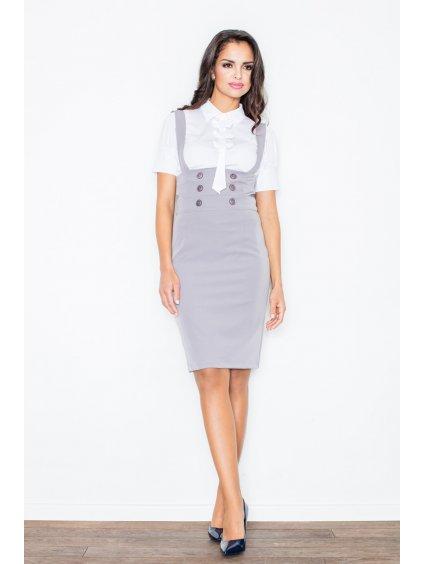Dámská šedá sukně  M010