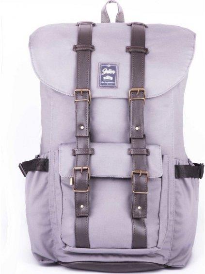 Vodotěsný šedý sportovní batoh  Solier S13 (SV01 GREY)