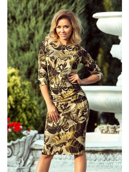 Šaty se vzorem listů 59-8