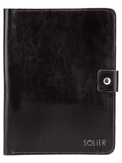 Genuine leather men's organiser Solier (SA21 BLACK)