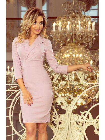 Lila šaty s límečkem - 237-1