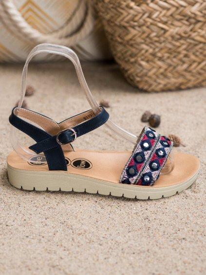 Casual sandály  odstíny modré B119-08-01MA