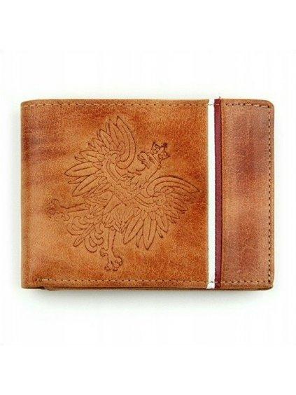 Hnědá světlá pánská peněženka z přírodní kůže  N992B-HP