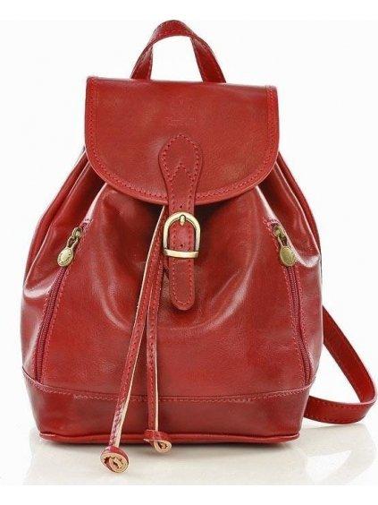 MAZZINI Valentino červený kožený batoh (Pl33c)
