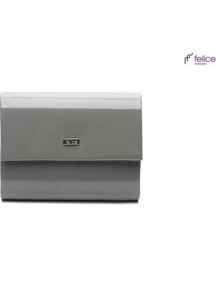 Lakované šedé psaníčko Felice - F14 grey