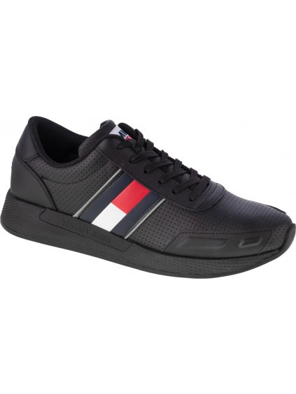 TOMMY HILFIGER FLEXI PERF LEATHER RUNNER