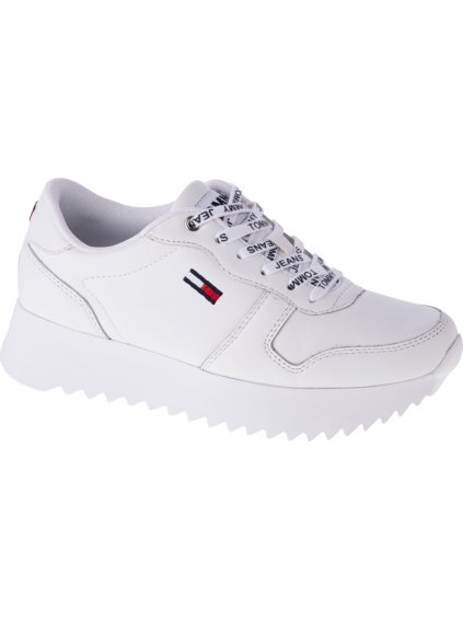 TOMMY HILFIGER HIGH CLEATED LEATHER