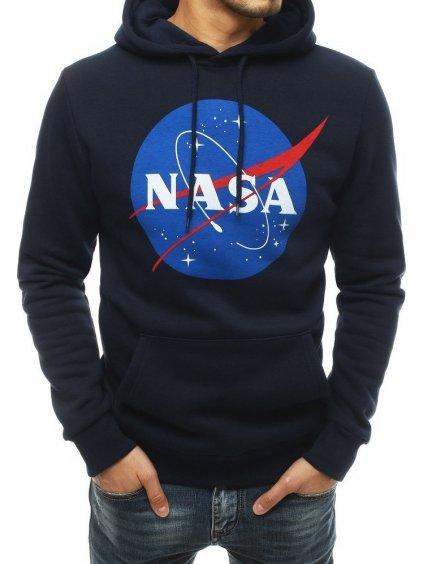TMAVĚ MODRÁ MIKINA S KAPUCÍ NASA