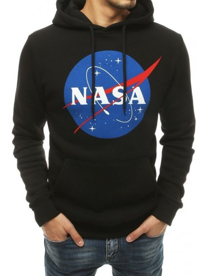 ČERNÁ MIKINA S KAPUCÍ NASA