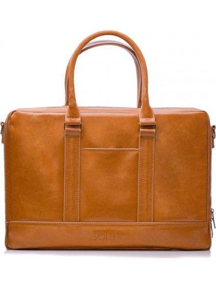 Pánská kožená hnědá taška (SL02 CAMEL)