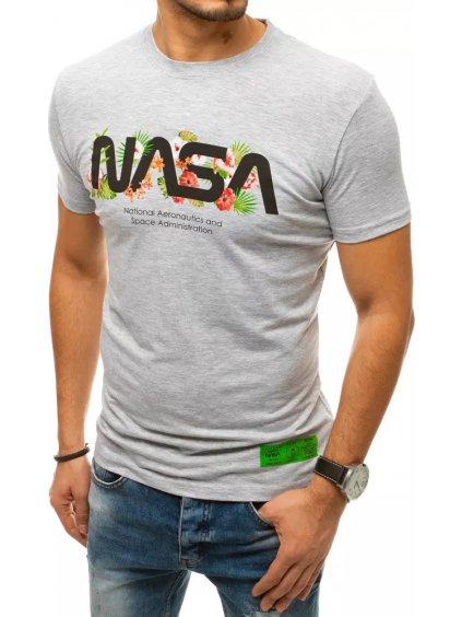 SVĚTLE ŠEDÉ PÁNSKÉ TRIČKO NASA