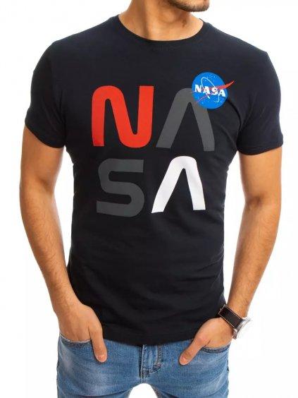 TMAVOMODRÉ TRIČKO S POTISKEM NASA