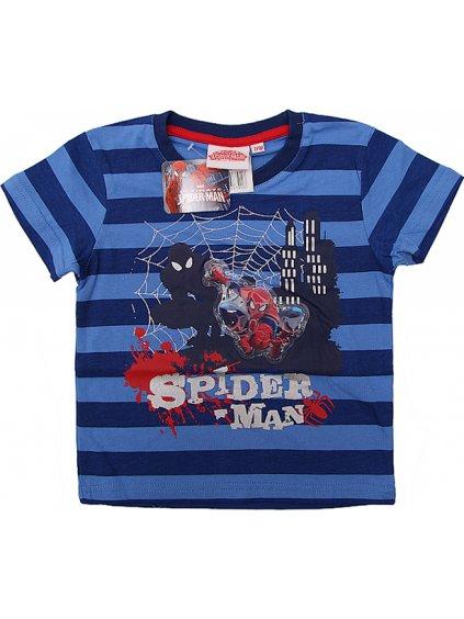 SPIDER-MAN MODRÉ PRUHOVANÉ CHLAPECKÉ TRIČKO