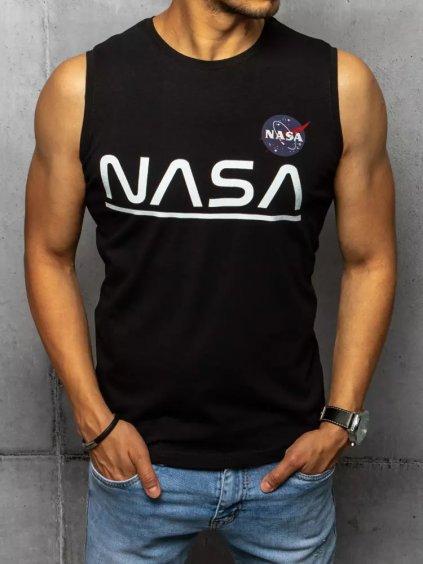ČERNÉ TRIČKO BEZ RUKÁVŮ NASA