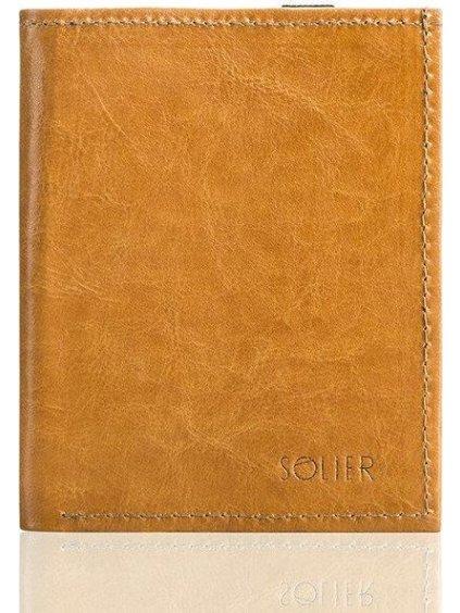 Pánská kožená hnědá peněženka (SW07 PASSPORT camel)