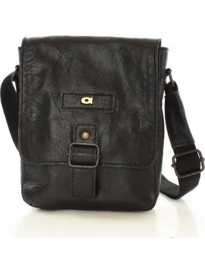 Pánská černá kožená taška JAZZY ORGANIC 4 (dg40a)