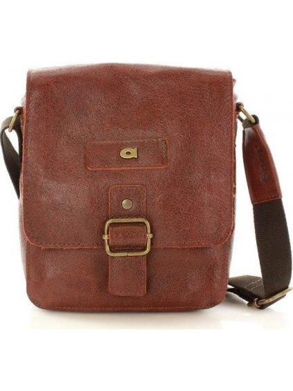 Pánská hnědá kožená taška JAZZY ORGANIC 4 (dg40b)